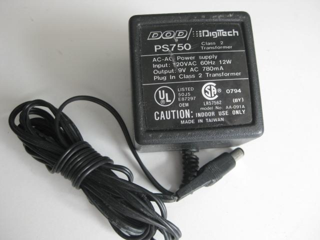 Dod Digitech Ps750 Ac Adapter 25 00 Studio1525